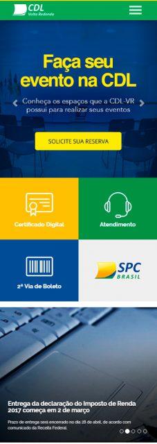 Site da CDL Volta Redonda otimizado para mobile